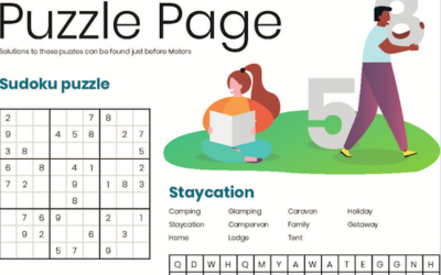 Staycation Puzzle Page