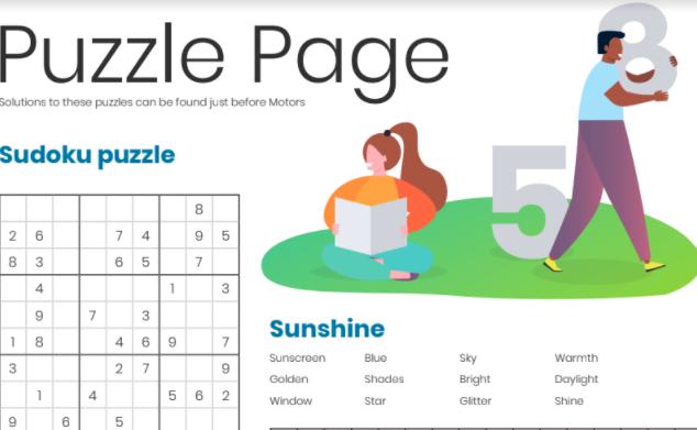 Sunshine Puzzle Page