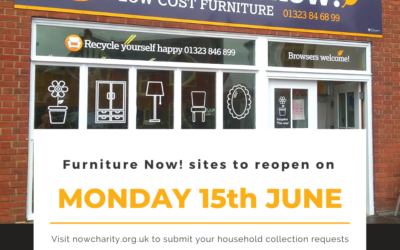 Our charitable partner Furniture Now! is set to reopen its doors to the public on Monday 15th June!