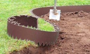 edging a garden bed