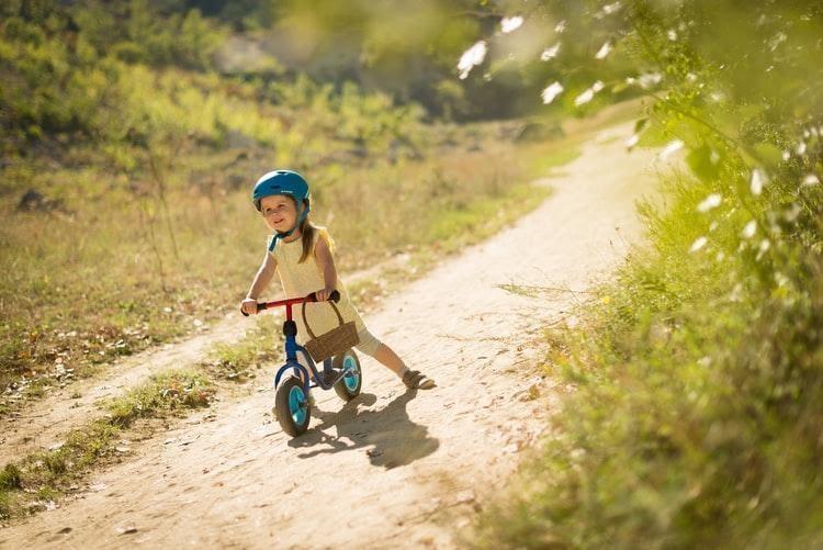 child on trike