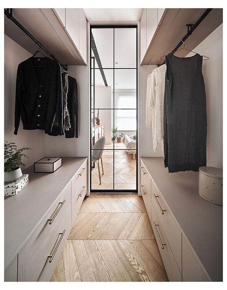 small walk in wardrobe