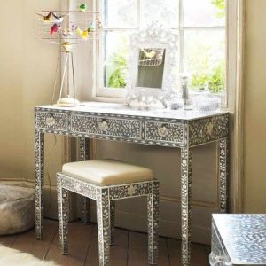 artistic patterned dressing table
