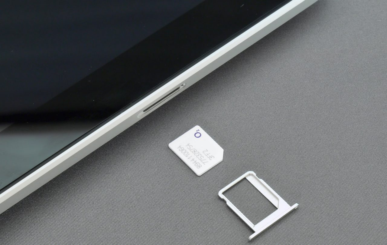 Sim card ready to be inserted