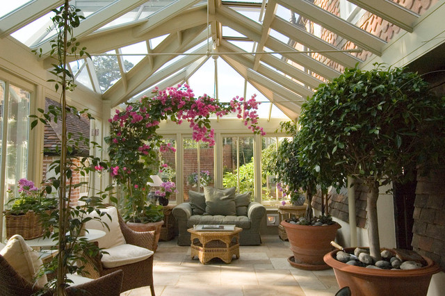 Conservatory with seating